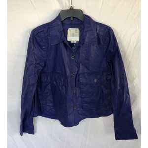 Hei Hei Anthropologie Blue Coated Utility Jacket S